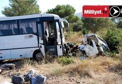 Otobüs otomobili altına aldı: 3 ölü, 11 yaralı