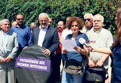 Ermeni Patrikhanesi  önünde seçim eylemi
