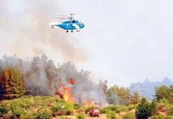 Kumluca'da 300 hektar kül oldu