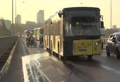 Boğaziçi Köprüsünde metrobüs kazası