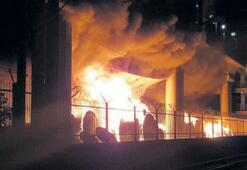 TCDD deposunda çıkan yangın ucuz atlatıldı