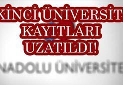 Açıköğretim ikinci üniversite kayıtları uzatıldı