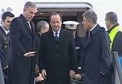 Fransa Cumhurbaşkanı Hollande Ankaraya yalnız geldi