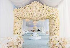 Yaz düğünlerinde çiçek modası