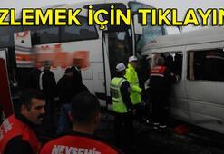 Nevşehirde feci kaza: 2 ölü, 11 yaralı