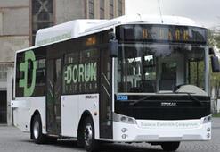 Türkiye'nin ilk elektrikli otobüsü yollarda