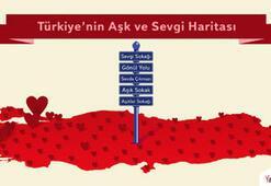 Türkiye'nin aşk ve sevgi haritası