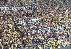 Dortmund tribünlerinden Çarşıya destek