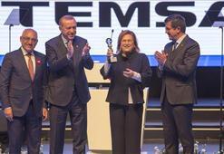 Güler Sabancı, MD9 electriCITYyi, Cumhurbaşkanı Erdoğana takdim etti