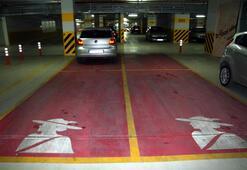 Bayanlara özel pembe park alanı