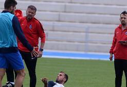 Trabzonsporun sabah antrenmanında gerginlik