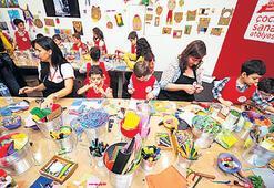 Küçük sanatseverler için özel sanat alanı