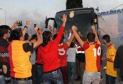 Galatasaraya coşkulu karşılama