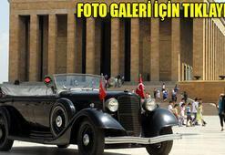 Atatürkün otomobili törenle bakıma gönderildi