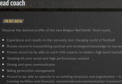 Belçika, teknik direktörünü internetten arıyor