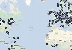 Tüm internetin haritası Google Maps üzerinde