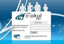 E-okul sistemi ile online ders notları görüntüleme işlemi