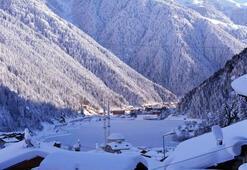 Uzungölden kar manzaraları