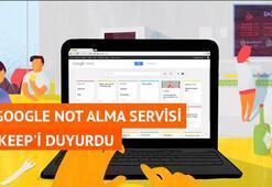 Google Not Alma Servisi Keepi Duyurdu