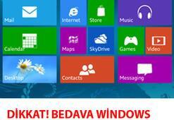 Dikkat Bedava Windows Tuzağına Düşmeyin