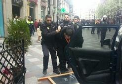 Galatasaray taraftarına Madridde polis müdahalesi