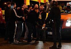 Bernabeu önünde taraftar ile polis arasında gerginlik yaşandı