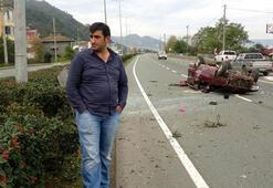 Trabzonda iki ayrı kazada iki mucize kurtuluş