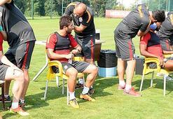 Galatasaraylı futbolcular testten geçti