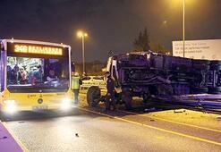Makas atan otomobil yüzünden kaza oldu