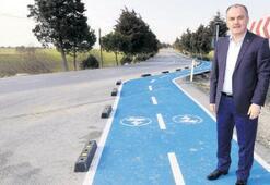 Pamukkale'ye bisiklet yolu