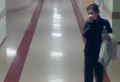 Hastanede hastaların çantasını çalan hırsız güvenlik kamerasında
