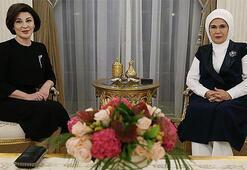 Emine Erdoğan, Şavkat Mirziyoyev ile görüştü
