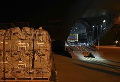 Türk yardım uçağı Süleymaniyede