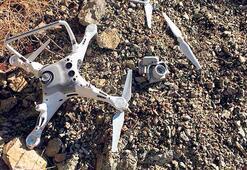 Kartal drone parçaladı