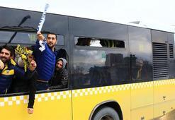 Derbide otobüs camını kıran taraftar maça giremeyecek
