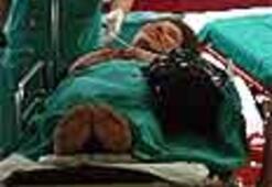 Çarşaflı kaçamak hastanede sonuçlandı