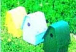 Mor çiçekli çim