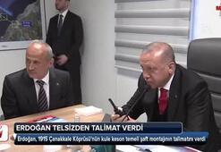 Cumhurbaşkanı Erdoğan telsizden talimat verdi