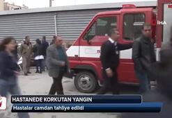 İzmirde hastanede korkutan yangın