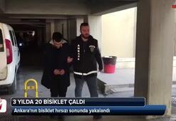Ankaranın bisiklet hırsızı sonunda yakalandı