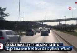 İstanbul'da zarf için tünel kapatan sürücü kamerada