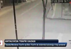 Menderes Türelin eşi trafik kazası geçirdi