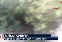 Arjantinde küçük bir uçak ağaçlık alana düştü
