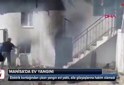 Manisada ev yangını