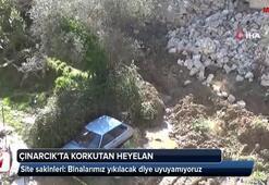 Yalova Çınarcık'ta korkutan heyelan