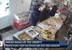 Marketi soydu, hiçbir şey olmamış gibi çıktı; böyle yakalandı