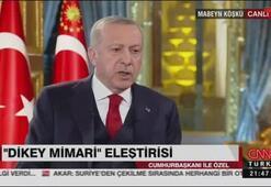 Cumhurbaşkanı Erdoğandan dikey mimari eleştirisi