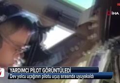 Dev yolcu uçağının pilotu uçuş sırasında uyuyakaldı