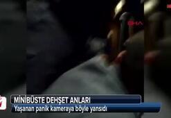 Dehşet anları Minibüse silahlı saldırı kamerada