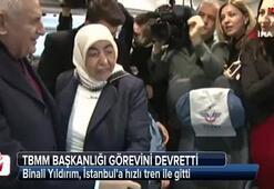 Görevini devreden Yıldırım, İstanbula hızlı tren ile gitti